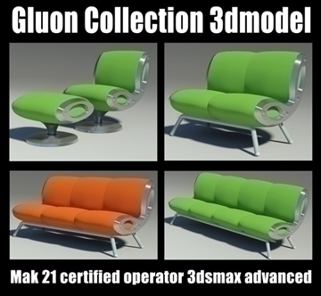 gluon sofa collection 3d model other 91236