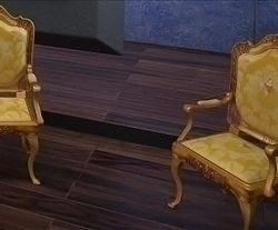 gold armchair ( 59.54KB jpg by PrintF )