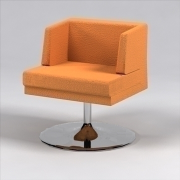 h chair 3d model 3ds max dxf 96234