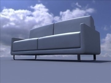 household sofa 3d model ma mb obj 82936