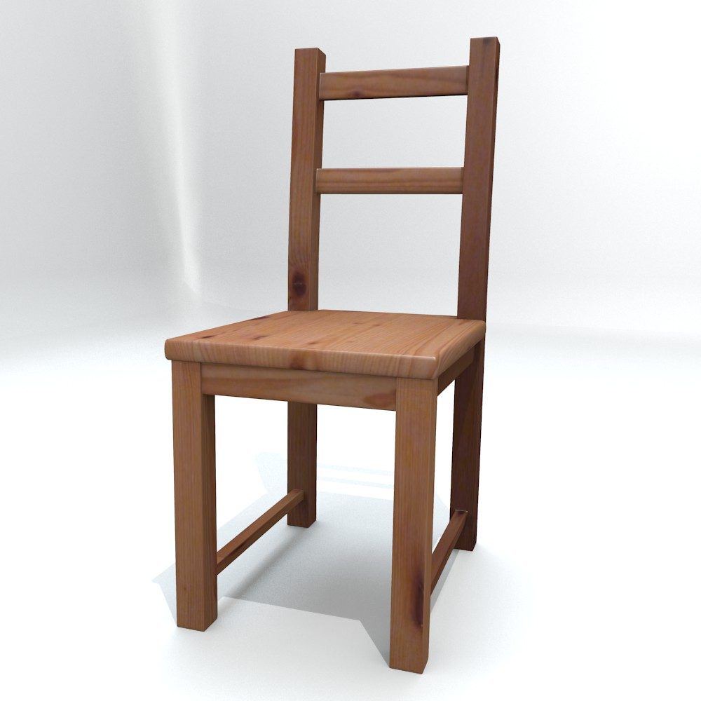 ikea side chair ivar 3d modello fbx blend dae obj 118057