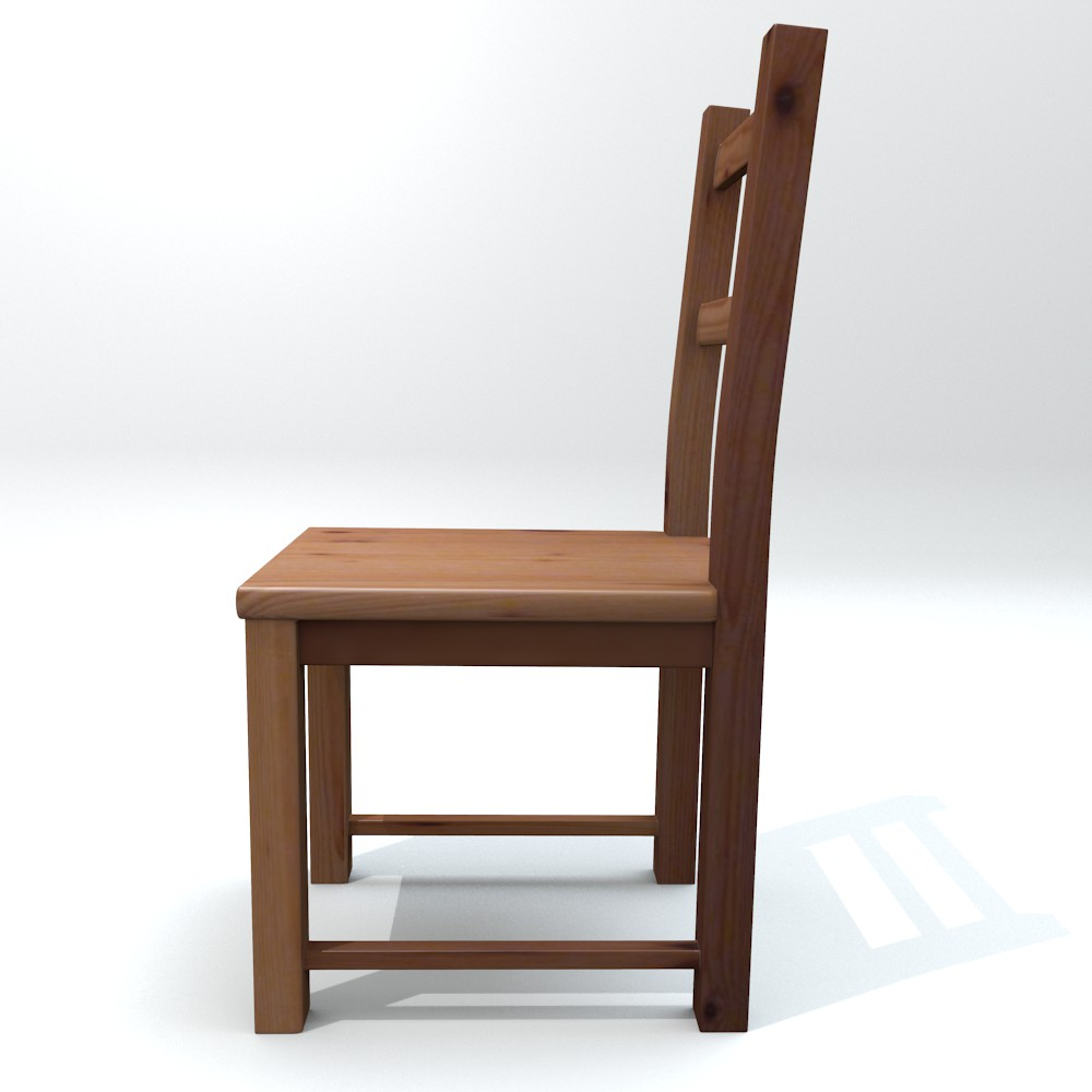 ikea side chair ivar 3d model fbx blend dae obj 118058