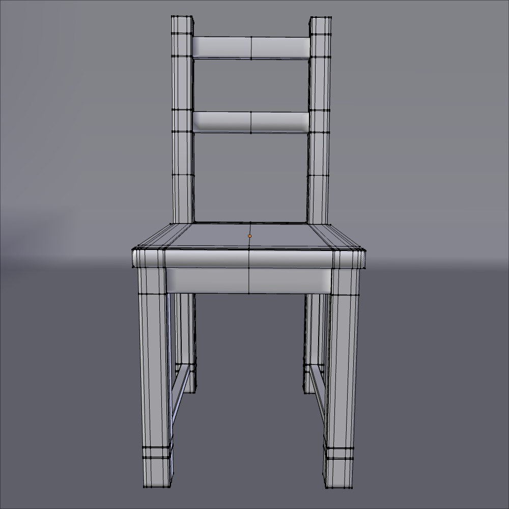 ikea side chair ivar 3d model fbx blend dae obj 118060