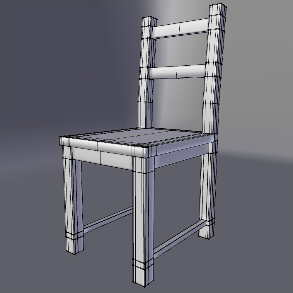 ikea side chair ivar 3d model fbx blend dae obj 118061