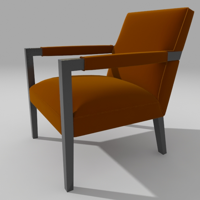 john hutton armchair 3d model 3ds max dxf fbx obj 114900