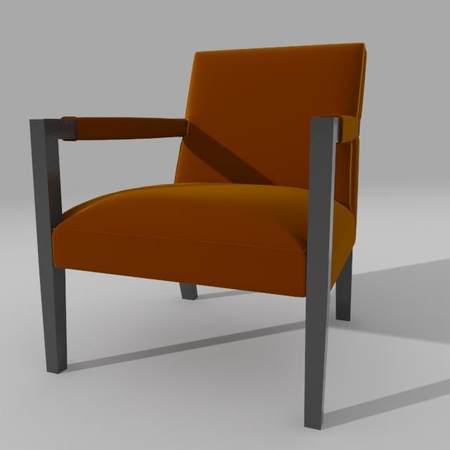 john hutton krēsls 3d modelis 3ds max dxf fbx obj 114901