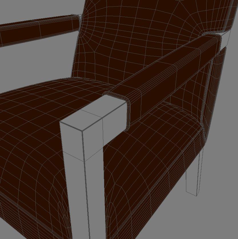 john hutton krēsls 3d modelis 3ds max dxf fbx obj 114902