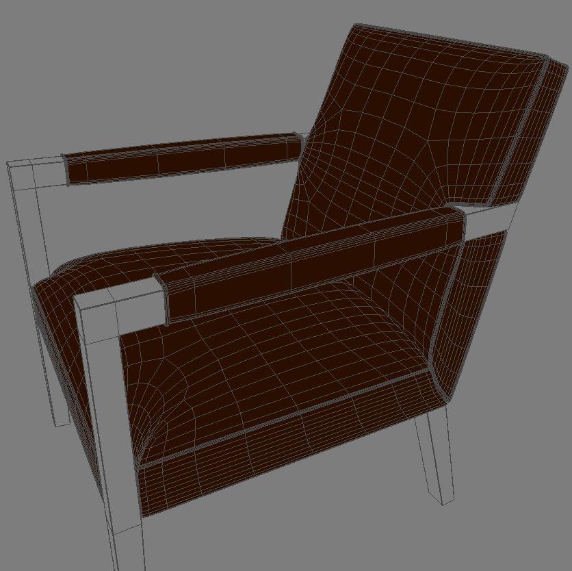 john hutton krēsls 3d modelis 3ds max dxf fbx obj 114904