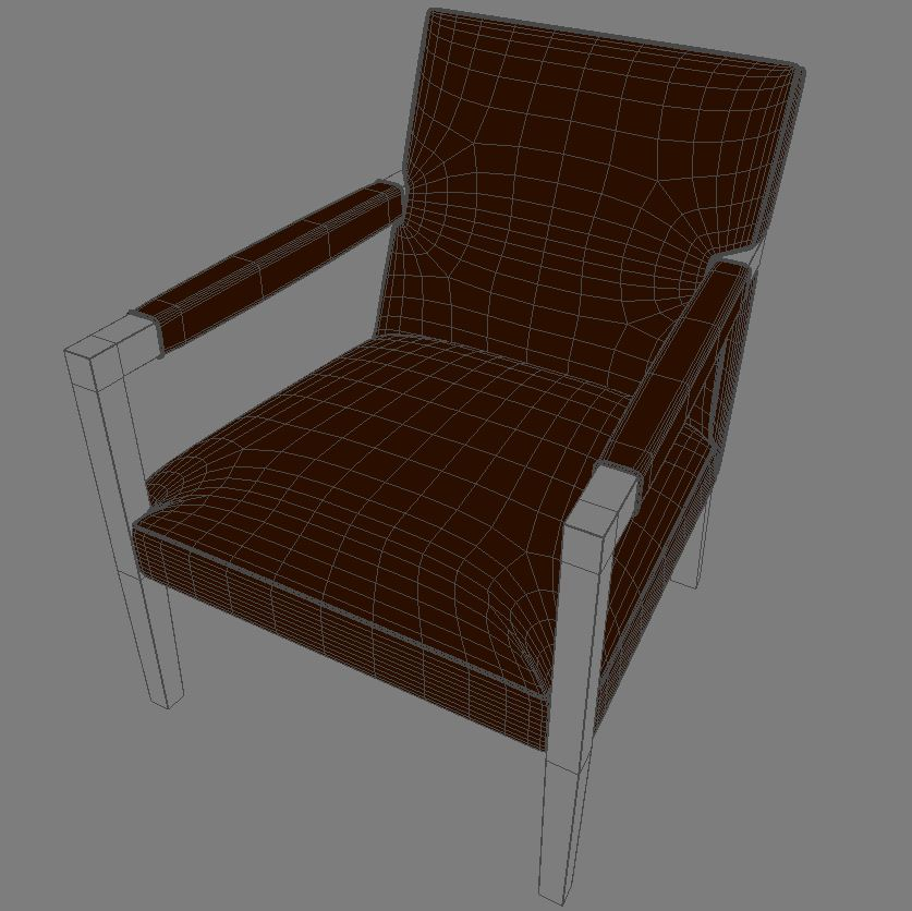 john hutton krēsls 3d modelis 3ds max dxf fbx obj 114906