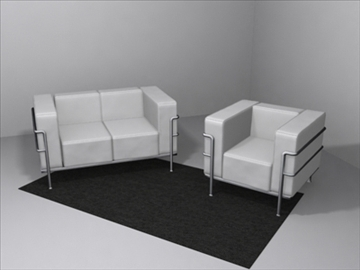 le corbusier furniture 3d model 3ds max wrl wrz obj 84720