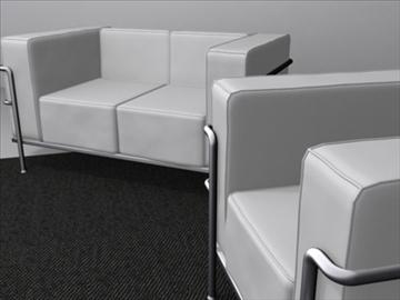 le corbusier furniture 3d model 3ds max wrl wrz obj 84722