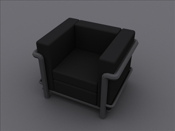 le corbusier petit club chair lc2 3d model 3ds max 97980