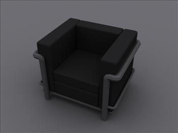 le corbusier petit klub stolica lc2 3d model 3ds max 97980