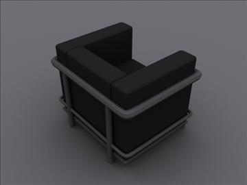 le corbusier petit klub stolica lc2 3d model 3ds max 97981