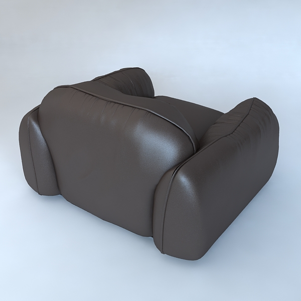 leather armchair piumotto busnelli italy 3d model 3ds max fbx obj 120801