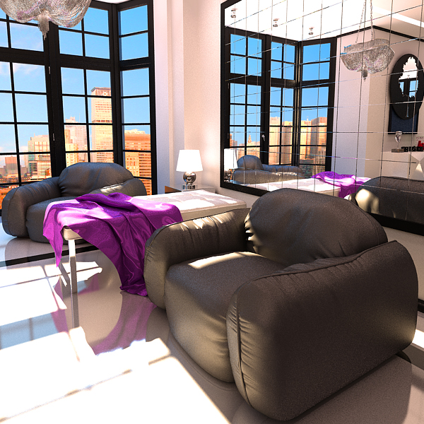 leather armchair piumotto busnelli italy 3d model 3ds max fbx obj 120802