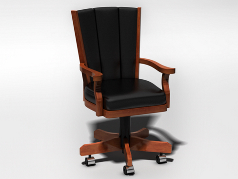 leather executive chair 3d model 3ds max c4d lwo ma mb obj 114601