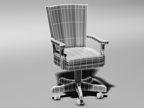 leather executive chair 3d model 3ds max c4d lwo ma mb obj 114602