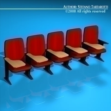lecture hall chair 3d model 3ds dxf c4d obj 88911