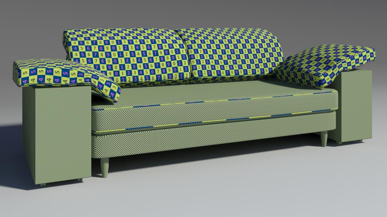 lotas sofa 3d model max 157458