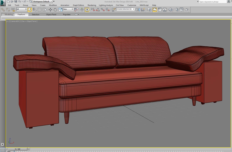 lotas sofa 3d model max 157459