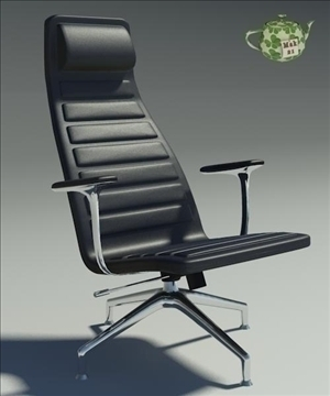 lotus black leather armchair 3d model 3ds max fbx obj 109881