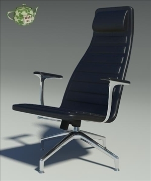 lotus black leather armchair 3d model 3ds max fbx obj 109884