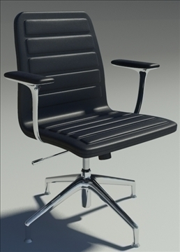lotus low black leather armchair 3d model max dxf fbx obj 92339