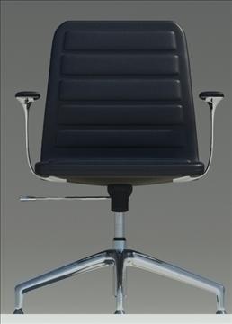 lotus low black leather armchair 3d model max dxf fbx obj 92341