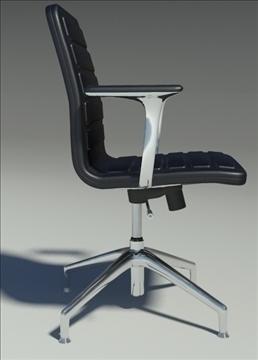lotus low black leather armchair 3d model max dxf fbx obj 92342