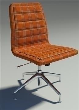 lotus low simple orange fabric armchair 3d model max dxf fbx obj 92462
