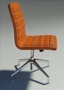 lotus low simple orange fabric armchair 3d model max dxf fbx obj 92463
