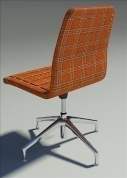 lotus low simple orange fabric armchair 3d model max dxf fbx obj 92464
