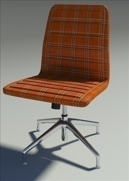 lotus low simple orange fabric armchair 3d model max dxf fbx obj 92465