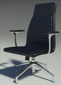 lotus medium black leather armchair 3d model max dxf fbx obj 92315