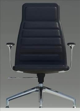 lotus medium black leather armchair 3d model max dxf fbx obj 92316