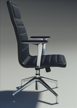 lotus medium black leather armchair 3d model max dxf fbx obj 92317