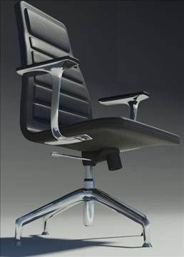 lotus medium black leather armchair 3d model max dxf fbx obj 92318