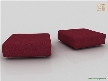 low poly ottoman 3d model 3ds max fbx obj 111844