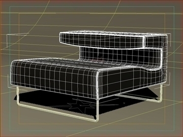lowseat leather brown 3d model 3ds max fbx obj 91507