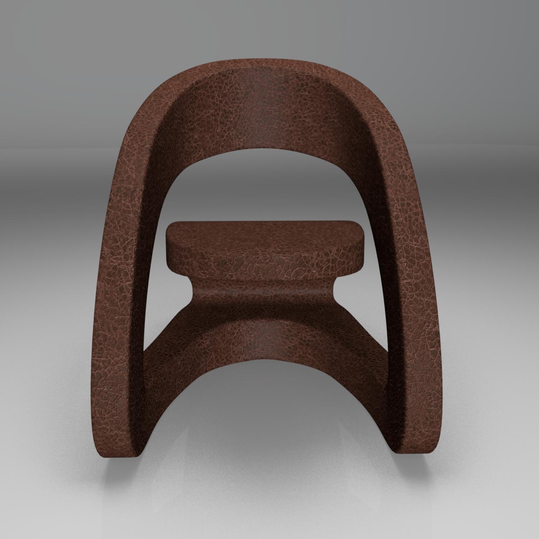 modern leather chair 2 3d model blend obj 116213