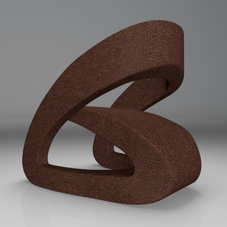 modern leather chair 2 3d model blend obj 116214