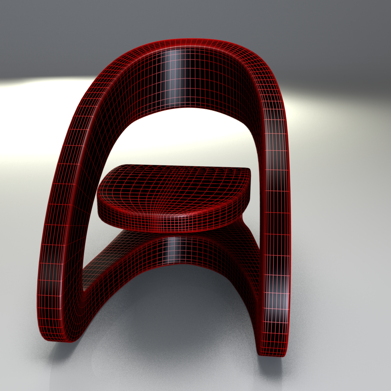 modern leather chair 2 3d model blend obj 116216
