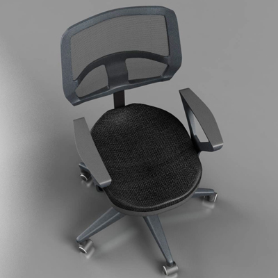 office chair – model #5 3d model 3ds max fbx ma mb obj 155838