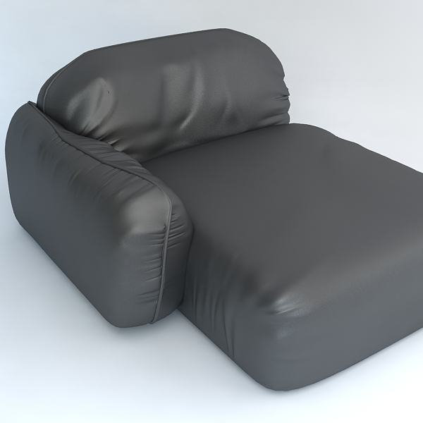 piumotto leather chaise chair 3d model 3ds max fbx obj 120959