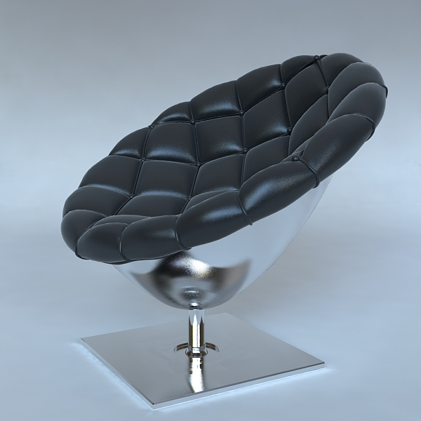 pod chair quilted leather upholstery 3d model 3ds max fbx obj 120816