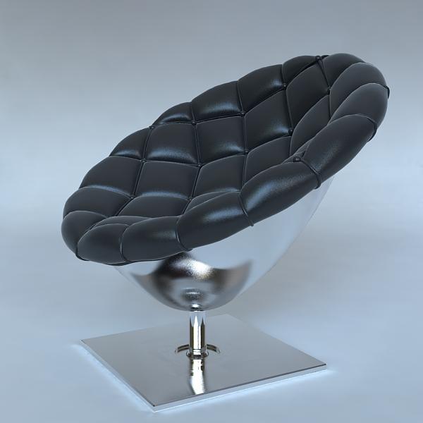 pod krēsls ar dvīņu ādas apdari 3d modelis 3ds max fbx obj 120816
