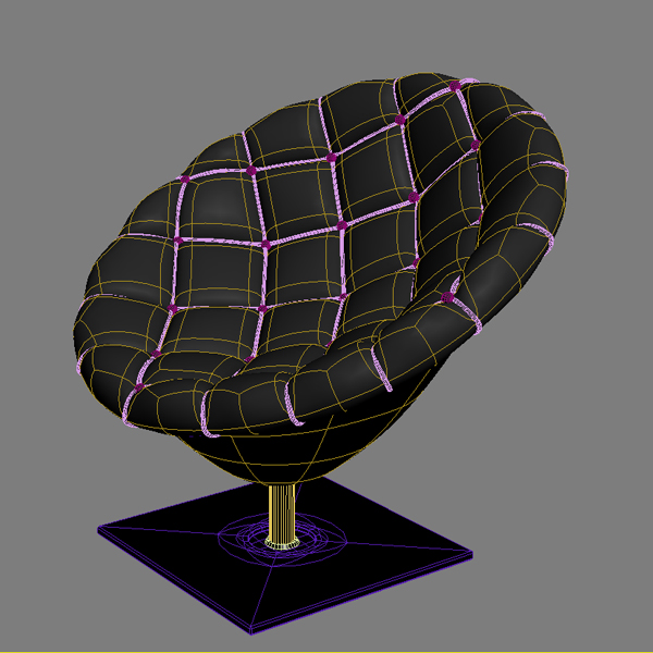 Pod chair quilted leather upholstery ( 224.57KB jpg by ComingSoon )