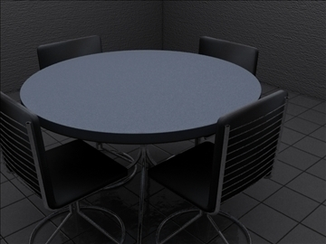 realistic kitchen table and chairs 3d model 3ds max fbx obj 93020