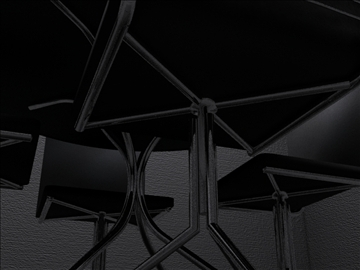 realan kuhinjski stol i stolice 3d model 3ds max fbx obj 93021